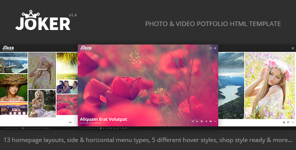 Joker - Photo & Video Portfolio HTML Template - Photography Creative
