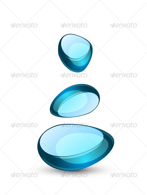 Blue abstract glass symbol - Decorative Symbols Decorative