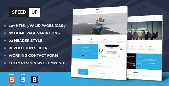 Speed Up – Business Corporate and Portfolio Html Template