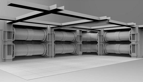 Facility interior modular - 3DOcean Item for Sale