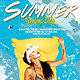Flyer Summer Weekend Party - GraphicRiver Item for Sale