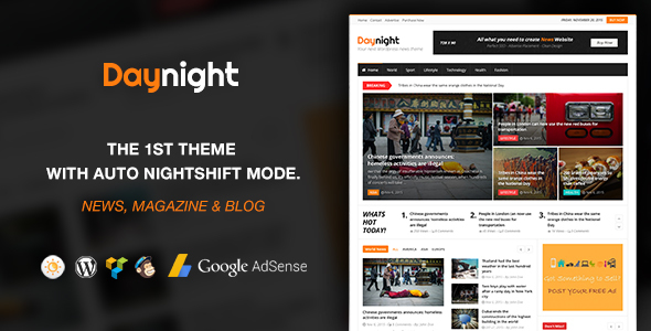 Daynight Magazine – News Magazine Theme