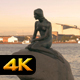 Mermaid Statue Copenhagen at Sunset - VideoHive Item for Sale