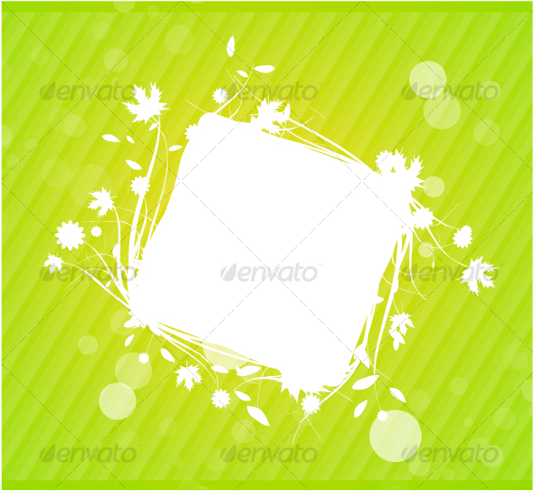 Abstract floral frame - Backgrounds Decorative
