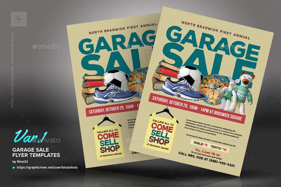 Garage Sale Flyer Templates by kinzishots | GraphicRiver
