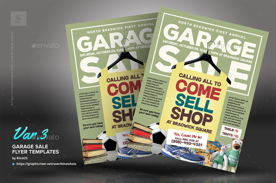 Garage Sale Flyer Templates by kinzishots – Yard Sale Flyer Template