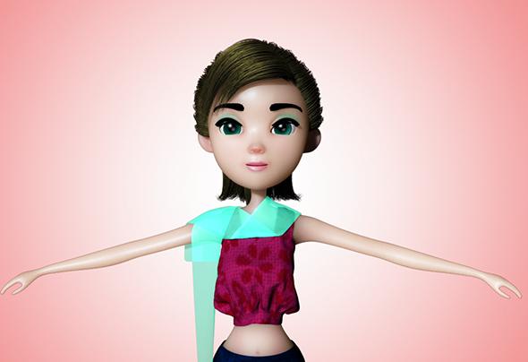 Ara Female Cartoon Character - 3DOcean Item for Sale