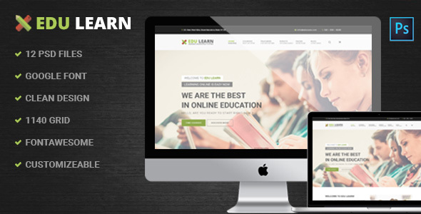 EduLearn – Education, School & Courses PSD Template