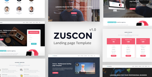 Zuscon – Multipurpose Landing Page Template