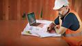 Construction Worker Planning Constractor Developer Concept - PhotoDune Item for Sale