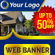 Multipurpose Real Estate and Marketing Web Ads Banner - GraphicRiver Item for Sale