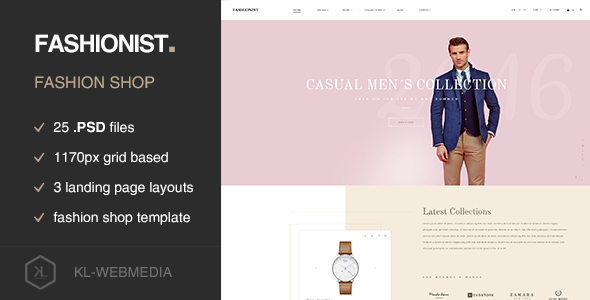 Fashionist - Fashion eCommerce PSD template