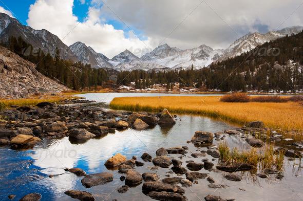 Amazing Landscape, Beautiful Mountain Sunset - Stock Photo - Images