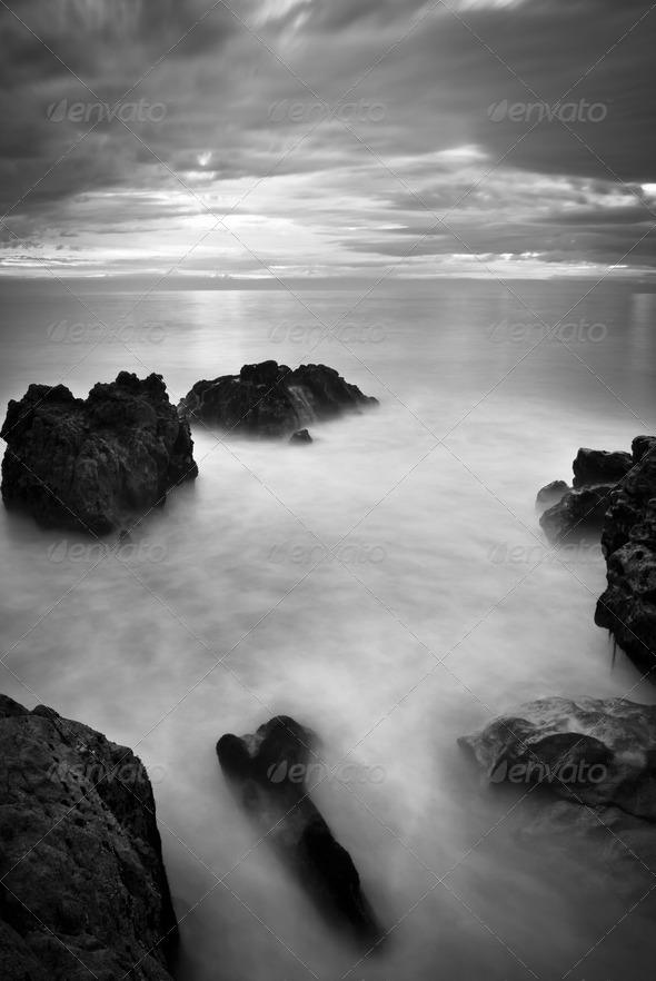 Beautiful Ocean Sunset - Stock Photo - Images
