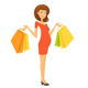 Pregnant Woman with Shopping Bags - GraphicRiver Item for Sale