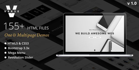 Verse – One/Multipage Multipurpose HTML Template