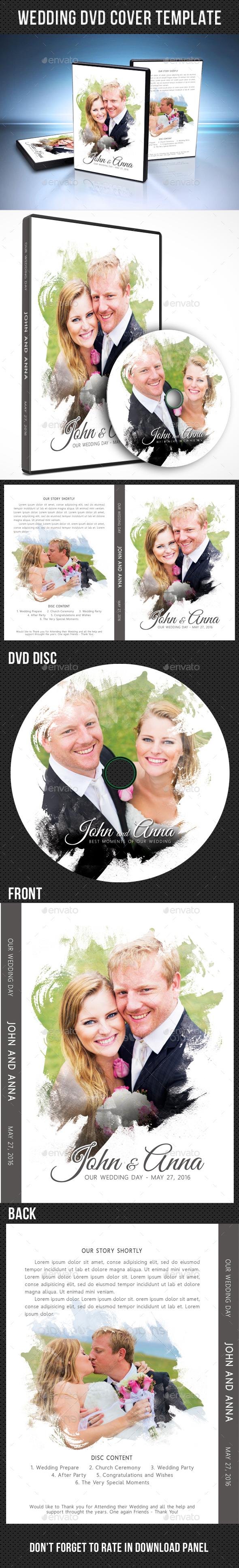 Wedding DVD Cover Template 17 - CD & DVD Artwork Print Templates