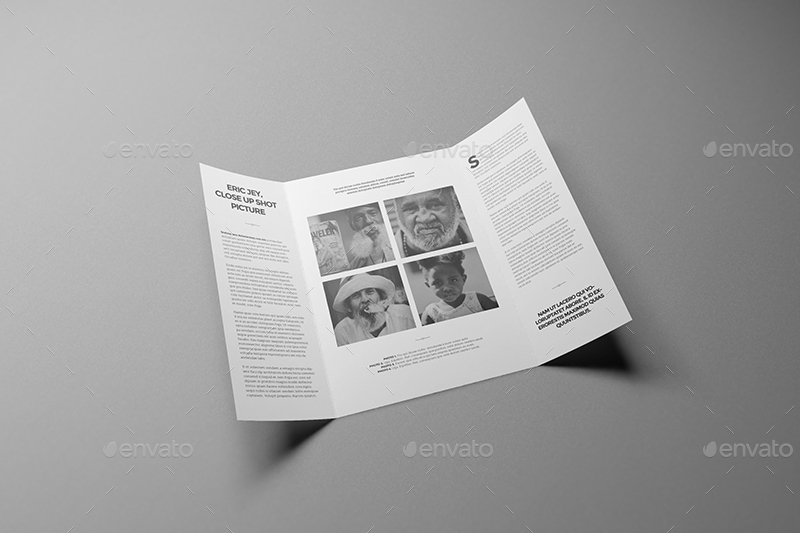 A A Single Gate Fold Brochure Mockups By Wutip  Graphicriver