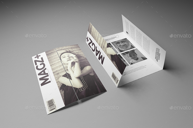 Attractive ... 12_A4 A5 Single Gate Fold Brochure Mockups ...