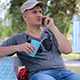 Man Talking On The Phone Outdoor - VideoHive Item for Sale