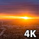 San Fernando Valley, California Cloudy Sunset - VideoHive Item for Sale
