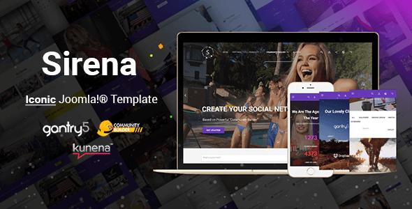 Sirena – Material Design Premium Joomla Template