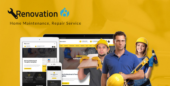 Renovation – Home Maintenance, Repair Service Drupal 8 Theme