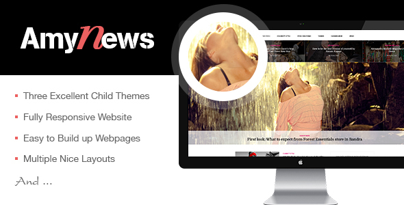 AmyNews – Responsive & Elegant WordPress News Theme