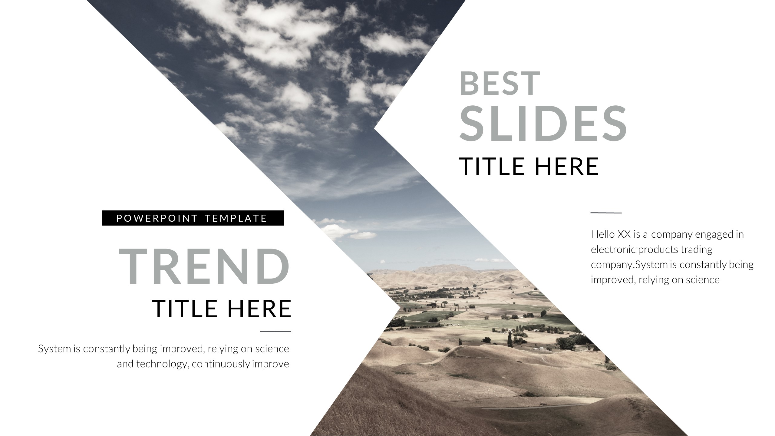 e poster template ppt