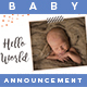 Baby Announcement Card - GraphicRiver Item for Sale