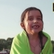Beautiful Little Girl In The Green Towel Tremble All Over After Swimming - VideoHive Item for Sale