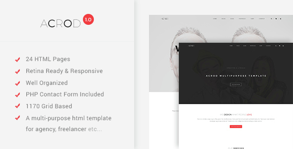 Acrod – Simple Minimalist Multipurpose Theme