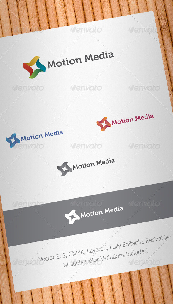 Motion Media Logo Template - Abstract Logo Templates