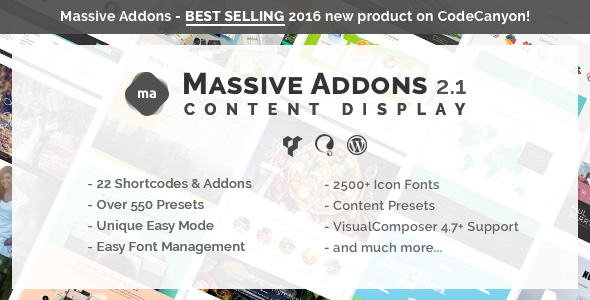 Massive Addons for Visual Composer - Content Display Pack - CodeCanyon Item for Sale