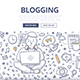 Blogging Doodle Concept - GraphicRiver Item for Sale