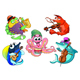 Group of Musician Sea Animals - GraphicRiver Item for Sale