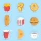 Set of Cartoon Fast Food Characters - GraphicRiver Item for Sale