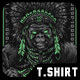 Apache Warrior T-Shirt Design - GraphicRiver Item for Sale