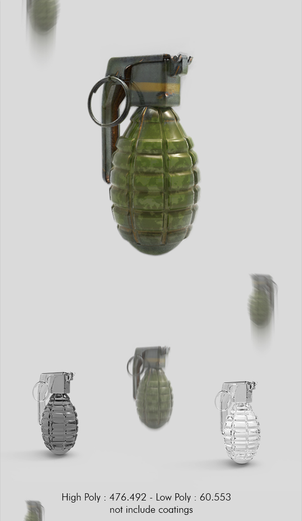 Grenade - 3DOcean Item for Sale