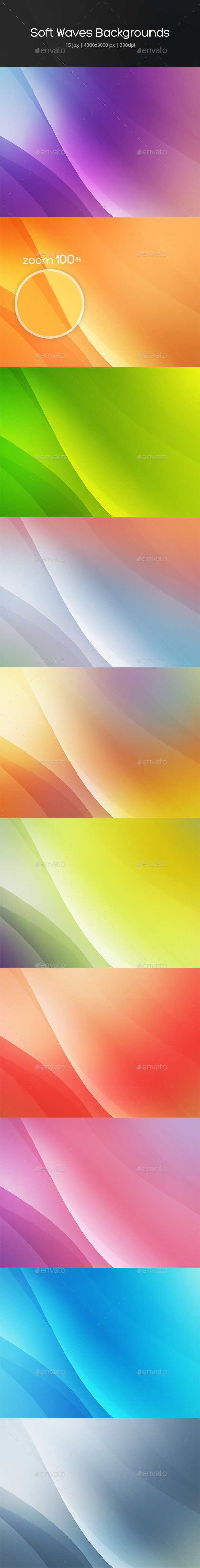 Soft Waves Backgrounds - Abstract Backgrounds