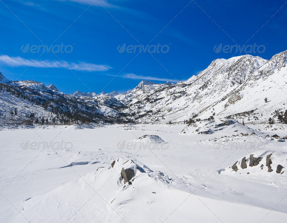 Snowy Mountain - Stock Photo - Images