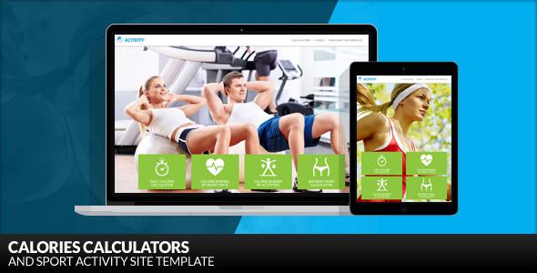 Activity - Calories Calculators and Sport Activity WordPress Theme - Health & Beauty Retail