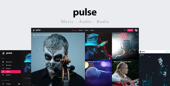 pulse - Music, Audio, Radio Template - Music and Bands Entertainment