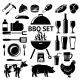 Vector Set for BBQ Party - GraphicRiver Item for Sale