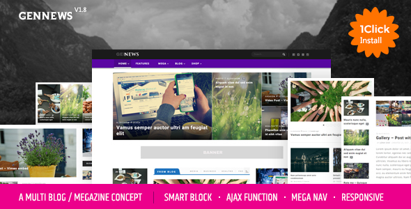 GENNEWS - Smart Magazine, Blog, Page for Wordpress Responsive Themes - Blog / Magazine WordPress