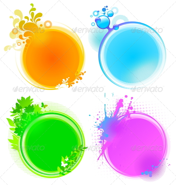 Abstract Decorative Round Frames - Abstract Conceptual