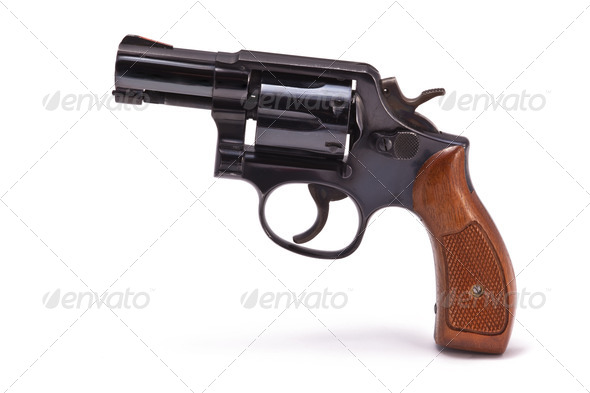 Modern Snubnose Revolver - Stock Photo - Images