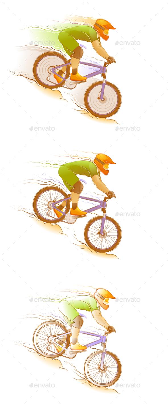 Mountain Biking - Sports/Activity Conceptual