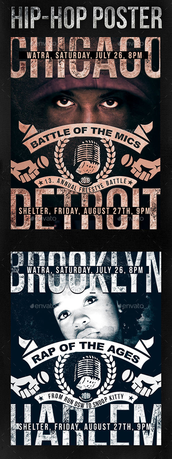 Hip-Hop Poster / Flyer - Clubs & Parties Events