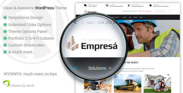 Empresa - Industry, Business, Finance WordPress Theme